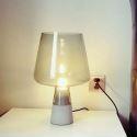 Moderne Tischlampe mit Glas Lampenschirm 1 flammig für Schlafzimmer