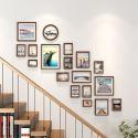 18er Bilderrahmen Set Holz Barock Antik Stil für Treppenhaus