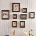 8er Bilderrahmen Set Holz Vintage Shabby-Chic