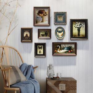 8er Bilderrahmen Set Holz Landhaus-Stil