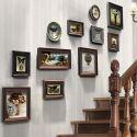11er Bilderrahmen Set Holz Landhaus-Stil Shabby-Chic