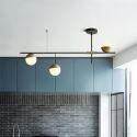 Moderne Pendelleuchte Glas Kugel Metall Ast Design 3/9 flammig