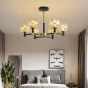 Moderne Hängeleuchte Glas Kugel Design 6/8/10/12 flammig für Schlafzimmer