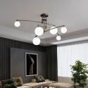 Glas Hängeleuchte Modern Kugel Design 6/9 flammig für Wohnzimmer