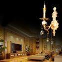 Wandleuchte Kristall Stilvoll Kerzen Design für Schlafzimmer