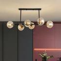 Moderne Pendelleuchte Glas Kugel Design 6 flammig für Wohnzimmer