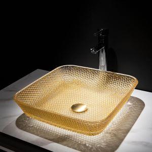 Waschbecken aus Glas Aufsatzwaschbecken Rechteckig