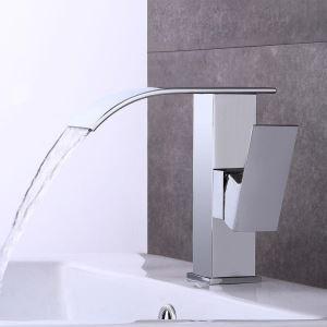 Moderne Waschtischarmatur Wasserfall in Chrom