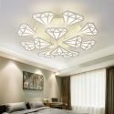 Led Deckenleuchte Modern Diamant Design aus Acryl für Schlafzimmer