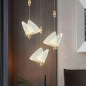 Led Pendelleuchte Schmetterling Design aus Acryl für Esstisch