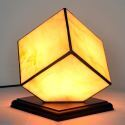 Glas Tischleuchte Retro Stil Eckiges Design 1 flammig