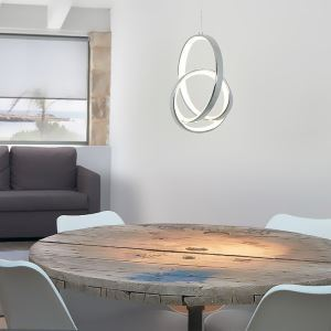 Led Hängeleuchte Modern Ring Design aus Aluminium