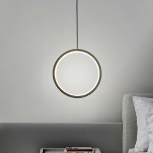 Led Pendelleuchte Modern Ring Design in Schwarz/Weiß