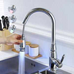 Led Küchenarmatur Ausziehbar Einhand Modern für Kalt- und Warmwasser