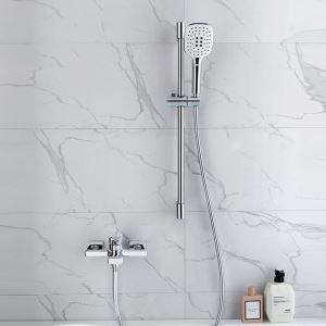 Duscharmatur Einhand Wandmontage mit Handbrause in Chrom