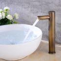 Waschtischarmatur Infrarot Sensor für Kaltwasser in Antik Messing