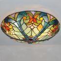 Tiffany Deckenleuchte Floral Design aus Glas 3 flammig