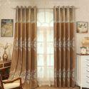 Vorhang aus Chenille Floral Design für Wohnzimmer (1er Pack)