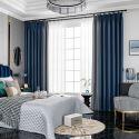 Vorhang Nordischer Stil aus Polyester für Wohnzimmer (1er Pack)