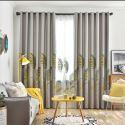 Vorhang Modern aus Polyester Blätter Motiv (1er Pack)