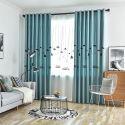 Vorhang aus Polyester Leuchte Motiv für Schlafzimmer (1er Pack)