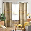 Vorhang aus Polyester Welle Motiv für Wohnzimmer (1er Pack)