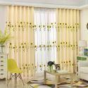 Vorhang Verdunkelung aus Polyester Sonnenblume Muster (1er Pack)