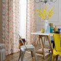 Vorhang aus Polyester Blumen Motiv für Schlafzimmer (1er Pack)