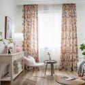 Vorhang aus Polyester Dreieck Motiv für Wohnzimmer (1er Pack)