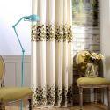 Vorhang aus Leinen Zweige Muster für Schlafzimmer (1er Pack)