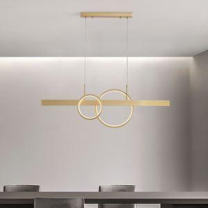 Led Hängeleuchte Modern Ring Design aus Kupfer 130W