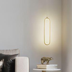 Led Hängeleuchte Modern Oval Design aus Kupfer