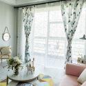 Vorhang Modern aus Polyester Blätter Muster (1er Pack)