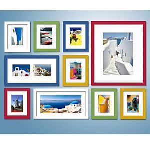 (EU Lager) Bunte Wand Bilderrahmen - 10er Set
