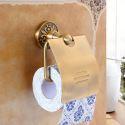 Papierrollenhalter mit Deckel Wandmontage aus Messing fürs Badezimmer
