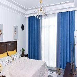 Vorhang Stilvoll Jacquard Welle Design aus Polyester im Wohnzimmer (1er Pack)