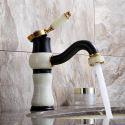 Waschtischarmatur Einhebel Mischbatterie Jade Design in Schwarz