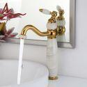 Waschtischarmatur Hoch Einhand Mischbatterie Jade Design in Gold