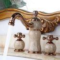 Waschtischarmatur Zweigriff 3-Loch Jade Design fürs Bad