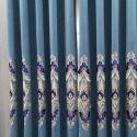 Vorhang Luxus Stil Floral Muster aus Polyester für Wohnzimmer (1er Pack)
