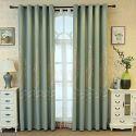 Vorhang unifarbe Jacquard im nordischen Stil für Wohnzimmer (1er Pack)
