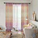 Vorhang künstlerisch Wiese Motiv aus Baumwolle und Leinen für Schlafzimmer (1er Pack)