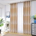 Vorhang im nordischen Stil Floral Motiv für Schlafzimmer (1er Pack)