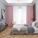 Hochwertiger Vorhang unifarbe Krone Muster im Schlafzimmer (1er Pack)