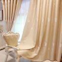 Minimalismus Vorhang Feder Motiv im nordishcen Stil für Schlafzimmer (1er Pack)