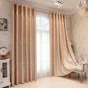 Blickdichter Vorhang elegant aus Polyester im Wohnzimmer (1er Pack)