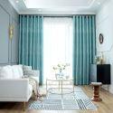 Eleganter Vorhang Bäume Muster im nordischen Stil für Schlafzimmer (1er Pack)