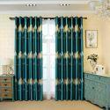 Moderner Vorhang im orientalischen Stil aus Polyester im Wohnzimmer (1er Pack)