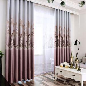 Vorhang orientalischer Stil Gebirge Muster für Wohnzimmer (1er Pack)