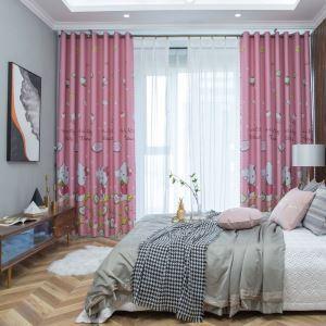 Blickdichter Vorhang hello kitty Muster aus Polyester für Kinderzimmer (1er Pack)